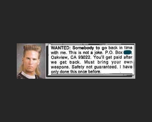 Safety Not Guaranteed - Classified Ad