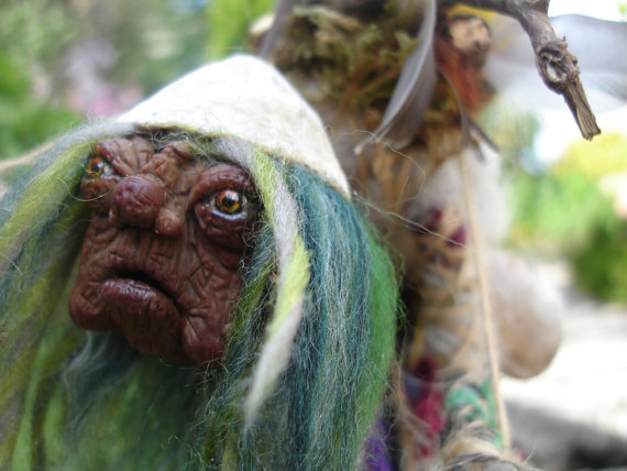 Junk Lady OOAK Art Doll inspired by Labyrinth