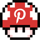 Pinterest Power Mushroom Social Icon by ShezCrafti