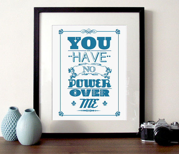 You Have No Power Over Me framed print inspired by Labyrinth