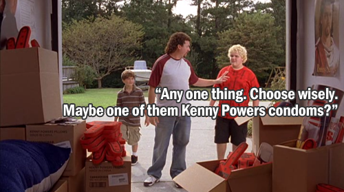 Kenny Powers lets his nephews each have one piece of memorabilia.