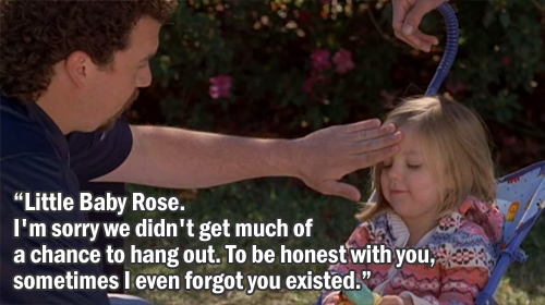 Kenny Powers has a heart-to-heart with his baby niece Rose.