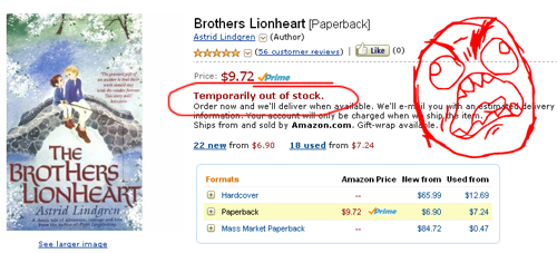 Amazon Y U NO have stock??