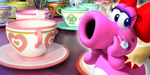 Birdo's Spinning Teacups - NintendoLand