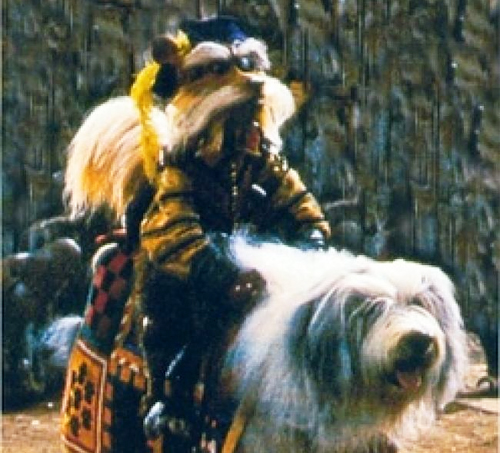 Sir Didymus Riding Ambrosius/Merlin