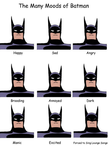 Batman's Emotional Range