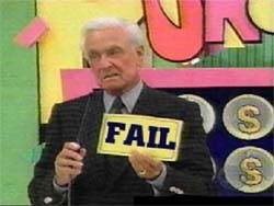 Bob Barker Says You Fail