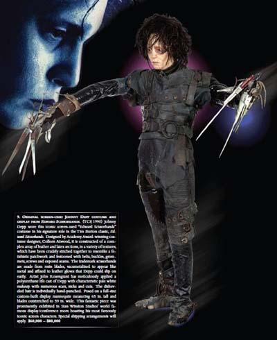 Edward Scissorhands Costume & Display