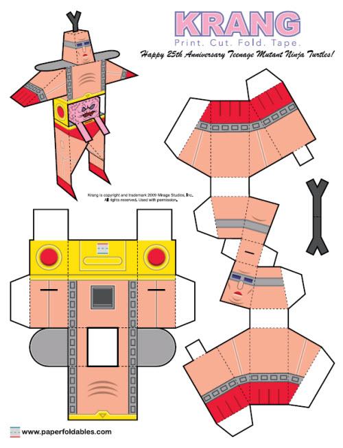 Krang Foldable Paper
