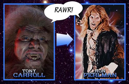 Beast Man = Ron Perlman