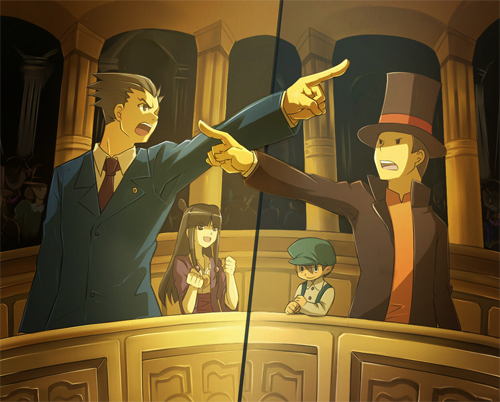 Phoenix Wright vs. Professor Layton