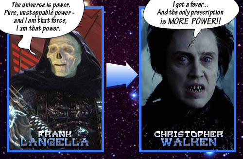 Skeletor = Christopher Walken