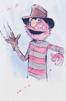 Elmo as Freddy Kreuger