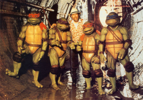 Jim Henson with the Ninja Turtles