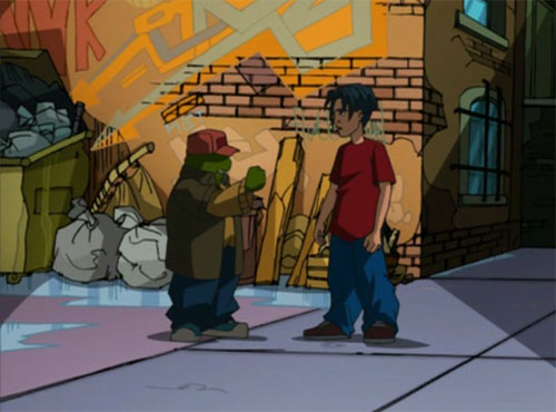 Young Leo helps Casey Jones.