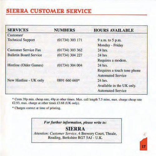 Sierra Customer Service