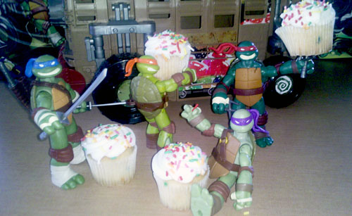 TMNT Toys and Cupcakes