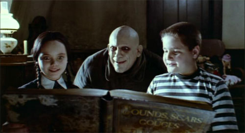 Fester Reading to Wednesday and Pugsley