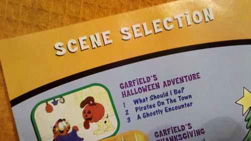 Garfield Holiday - Scene Selection