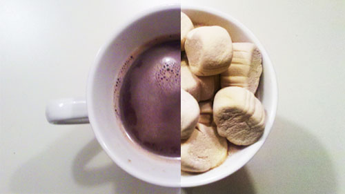 Hot Chocolate with Pumpkin Spice Mallows