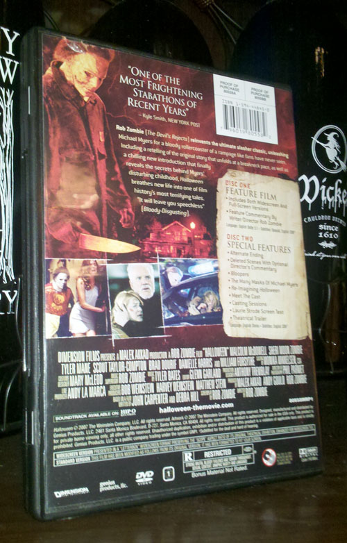 Rob Zombie's Halloween - Back Cover