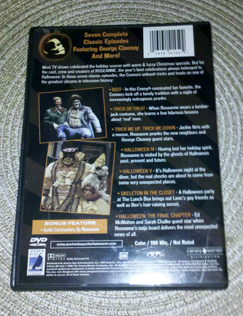 Roseanne Halloween Edition - Back Cover