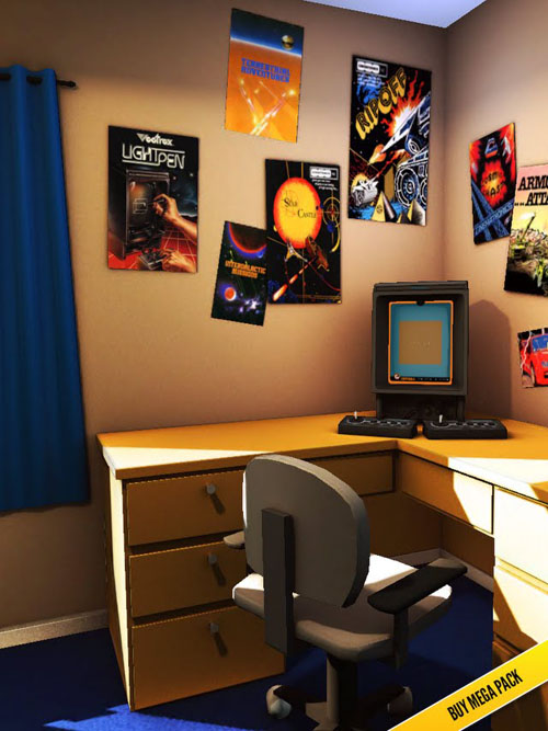 80s Bedroom - Vectrex on the Desk