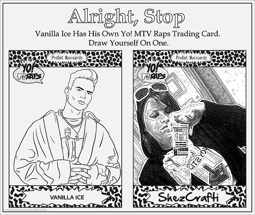 Vanilla Ice Trading Card