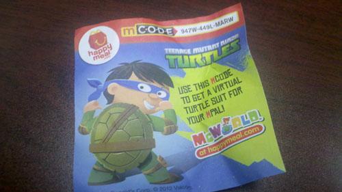 McDonald's TMNT McWorld Code
