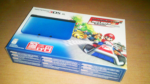 Nintendo 3DS XL with Mario Kart