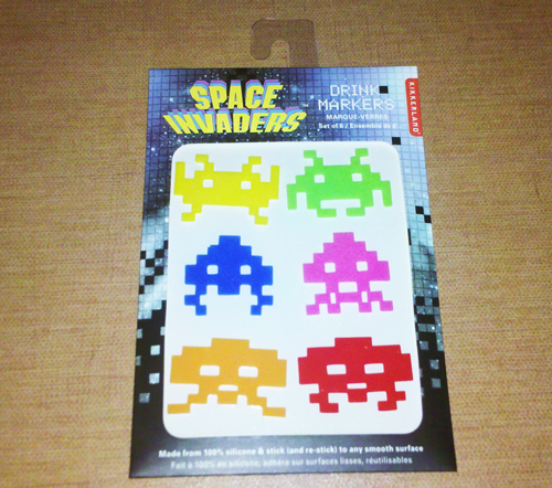 Space Invaders Drink Markers