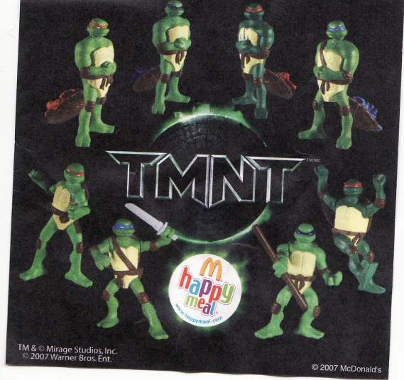 McDonald's TMNT Toys 2007