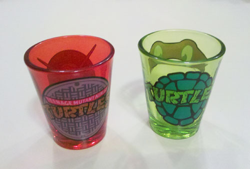 TMNT Shot Glass - Back