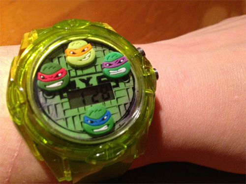 Closeup of TMNT Watch