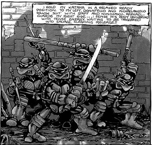 TMNT Comic First Panel