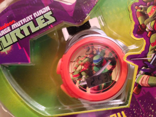 Closeup of TMNT Valentine Watch