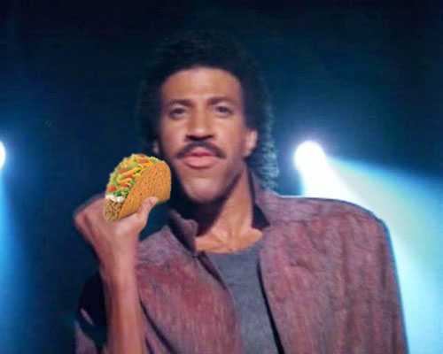 Lionel Richie Eating a Taco