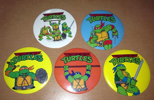 TMNT Vintage Large Buttons