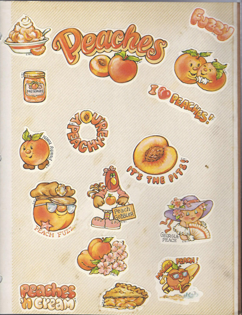Peaches 'n Cream Stickers