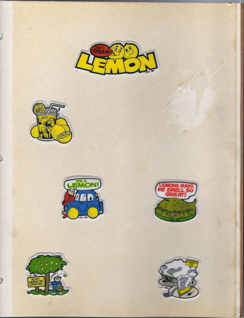 Lemon Stickers