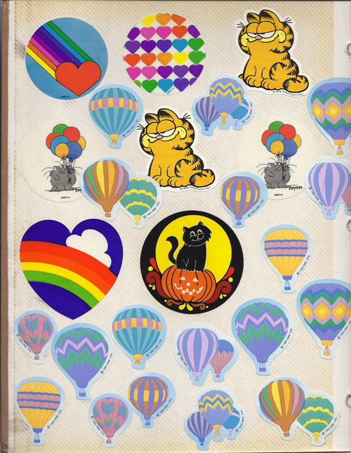 Garfield & Hot Air Balloon Stickers