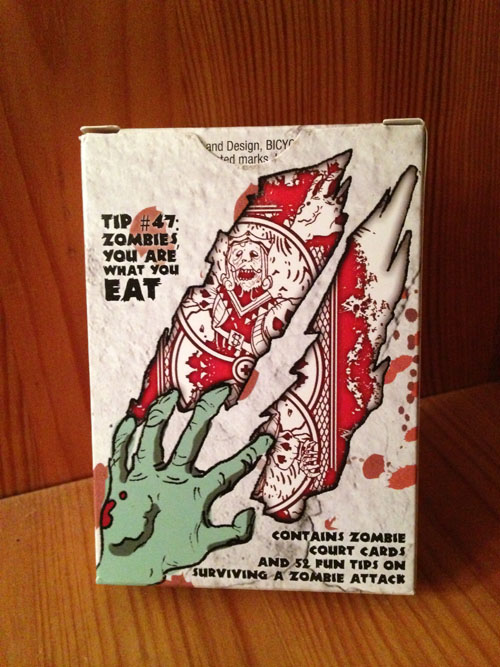 Back of Zombie Cards Box