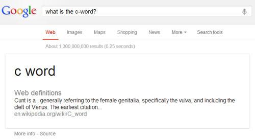 Google C-Word