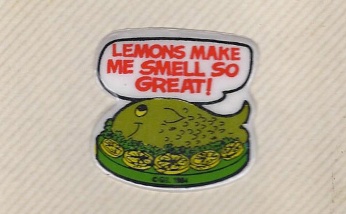 Weird Fishy Lemon Sticker