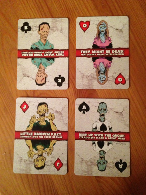 Zombie Face Cards