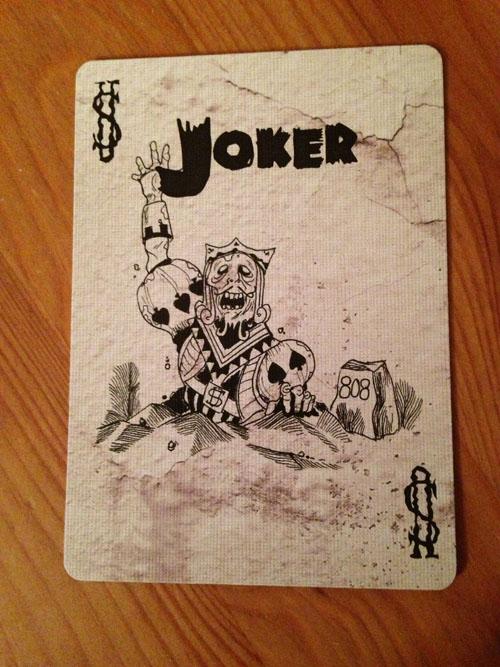 Zombie Joker Card