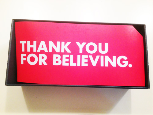Thank You For Believing
