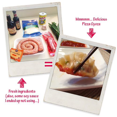 Ingredients for Pizza Gyoza Recipe