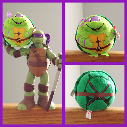 Donatello TY Beanie Ball - Front & Back