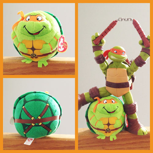 Michelangelo TY Beanie Ball - Front & Back